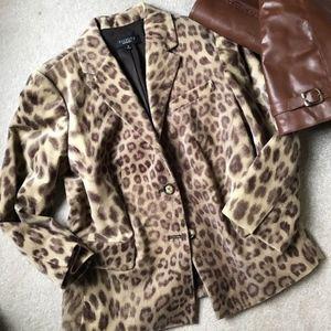 Talbots leopard blazer